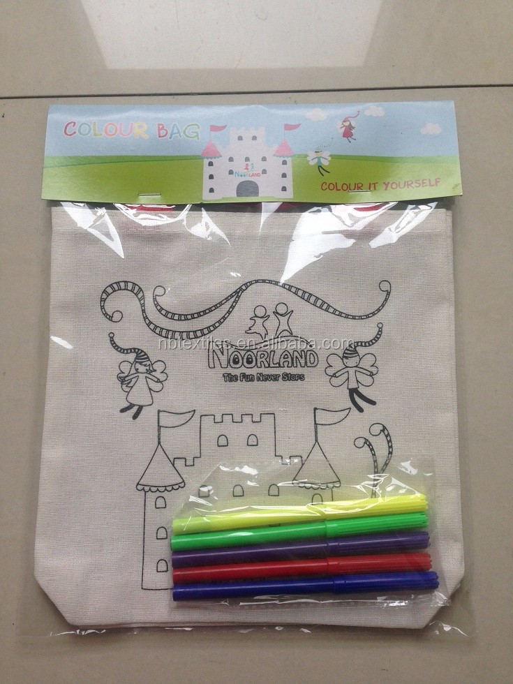 DIY color kids drawing bag