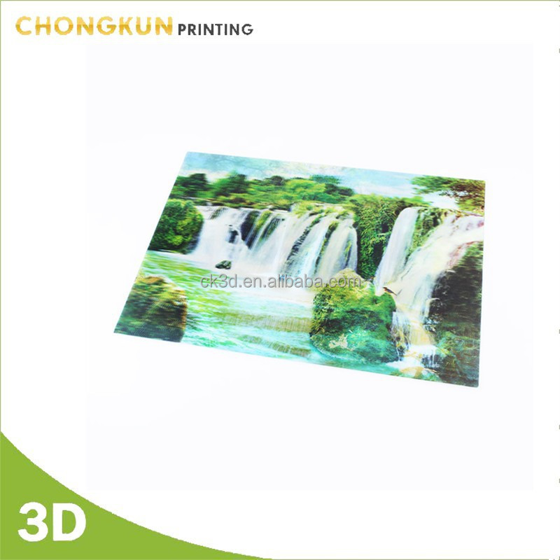 3d hologram scenery picture for home decoration