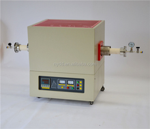 1400 degree electric laboratory vacuum heat treatment horizontal tube furnace