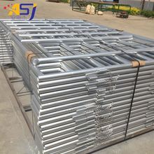 Galvanized steel welded pipe corral fence panels for horses livestock
