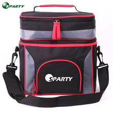 Custom portable disposable picnic lunch meal prep insulated cooler bag