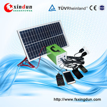 Portable Off-grid DC Solar Panel Kit 12V 10W20W30W for Camping and Home Use