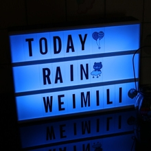 Premium quality led drawing board diy message cinema style rgb light box letters with best discount of the year