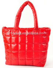 latest korea style quilt 70D red lady tote bag