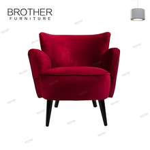 Home furniture overstuffed fancy relaxing single sofa chair for sale