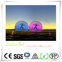 2015 High quality newest Colorful PVC/TPU Inflatable Zorb Ball