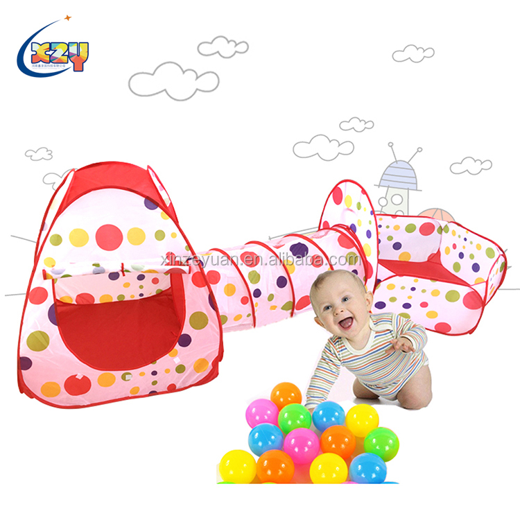 Factory stock price Foldable inflatable baby play toys tent for beach