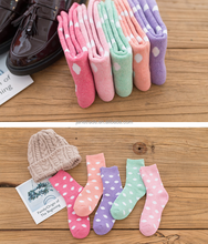 Sweet terry warm socks butterfly bow lovely girls' tube socks lady women cotton sock
