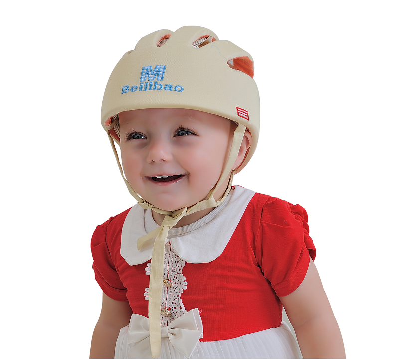 100% cotton breathable baby protective safty hat Beilibao E style infant helmet Blue color