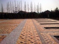 Large square fire rated clay paving brick
