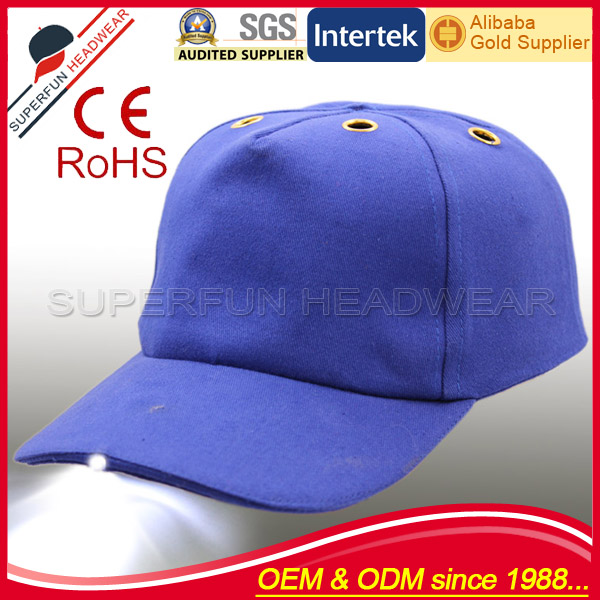 China supplier blank safety helmet LED caps buy online