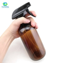 250ml500ml Large Refillable 16 Oz Amber Glass Spray Bottles for cleaning aromatherapy essential oil with black trigger spray top