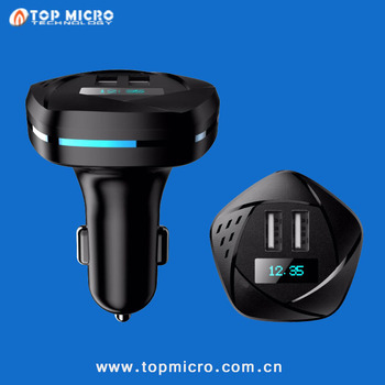 Intelligent Multi Function Dual USB with Bluetooth +Display + APP U-Disk Music Player Car Charger
