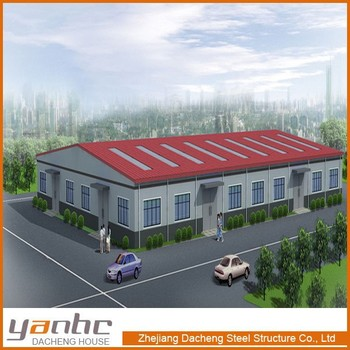 Prefabricated portal frame building, building construction material, warehouse