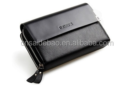 hot factory custom genuine leather man's wallet