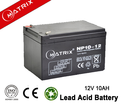 Sealed lead acid rechargeable solar power storage battery