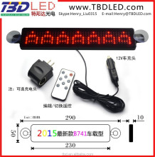 Hot sale 12v led car message moving Remote controlled led display for window message sign