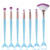 7 mermaid makeup brush color gradient color mermaid tail beauty tool kit