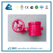 EPDM Seat Worm Gear Actuation Grooved Butterfly Valve