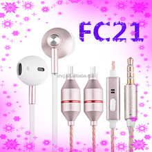 3.5mm jack 2.5mm air tube earphones headphones with radiation proof for accessories mobile phone