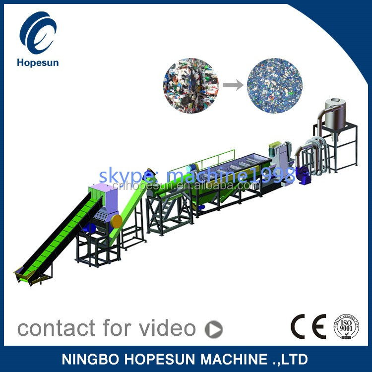 plastic recycling machine pp pe pet recycling line