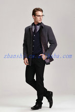 New style wedding dress blazer men100% wool one buttons sliver jacket