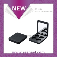magnetic opening and close 4cell eyeshadow compact case packaging powder case