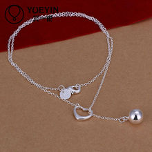 Charming silver ball pendant necklace
