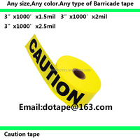 "Barricade tape 3""x1000'x1.5mil 1.84usd/roll to USA ,Canada markets"