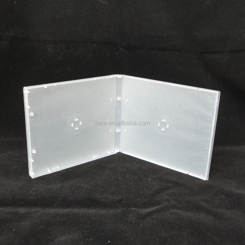 10mm Frosty Clear Double PP CD Storage Case