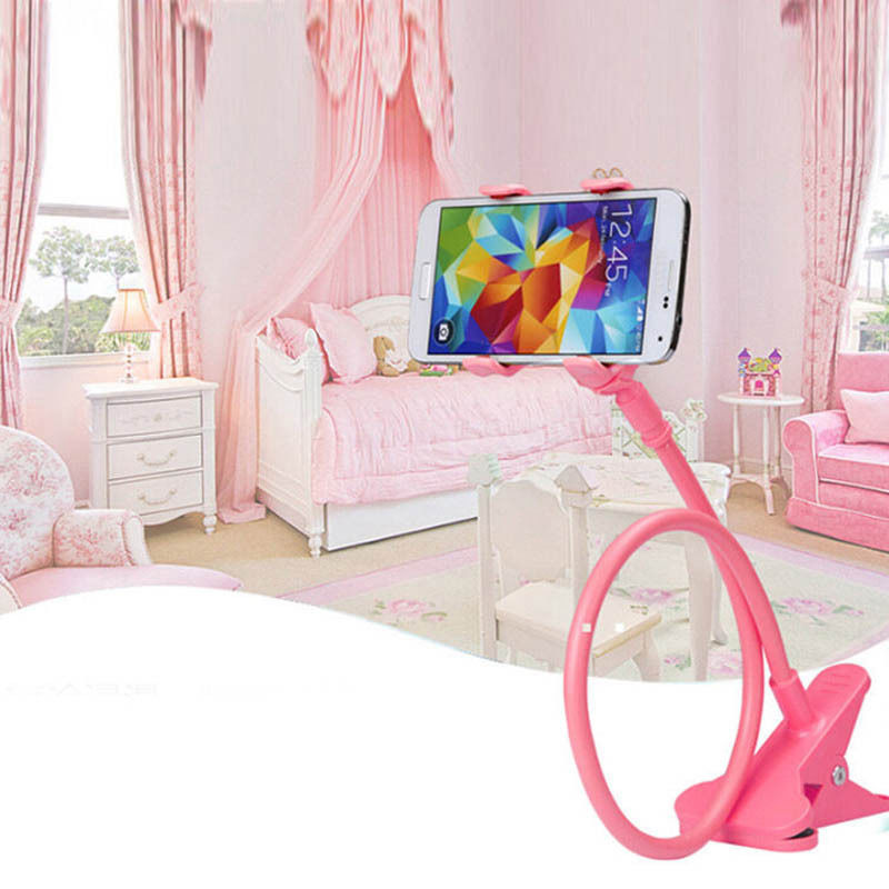 360 rotating adjustable clip lazy stand tablet pc cell phone holder for desk For Tablet PC Mobile Phone