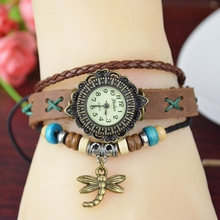 Custom Wrist Fancy Lady Leather Bracelet Watch