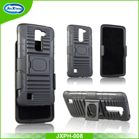 China supplier heavy duty shockproof hybrid kickstand case for LG K7