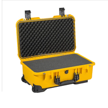 Ningbo factory hard injection mold IP67 waterproof carrying rugged plastic safety equipment case with foam insert