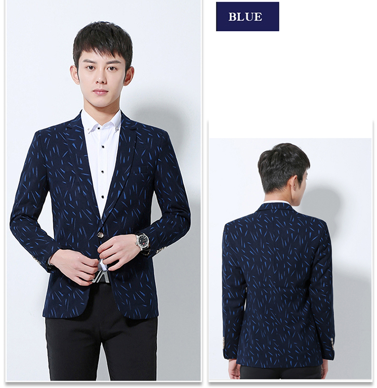 Manufacturer Modern Fit Slim Printed Sport Coats For Young Men ...