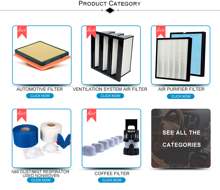 Made in china small hepa filter 12 types
