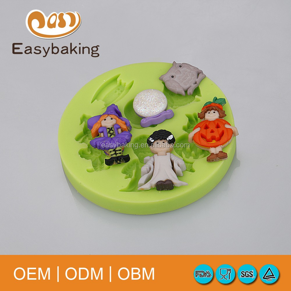 Halloween Pumpkin Witch owl Cake Decorating 3D silicone molds