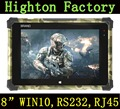 Factory IP65 Military Level 8 Inch Waterproof Tablet PC Built-in RS232 port And RJ45 Port Rugged Tablets Windows 10 OS
