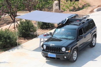2M x 2.5M Car Side Awning Roof Top Tent Camping Trailer 4WD 4X4 RACK Pull Out