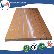 Waterproof decoration use mdf slat wall panel