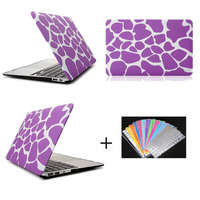 purple zebra pattern laptop protective case for Macbook air 13.3'' , for macbook air 11.6 inch back case