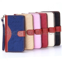 Stylish Flowers Cloth Textured Splice Color Wallet Style Magnetic Flip Stand TPU+PU Leather Case for Samsung Galaxy Note 4 N910
