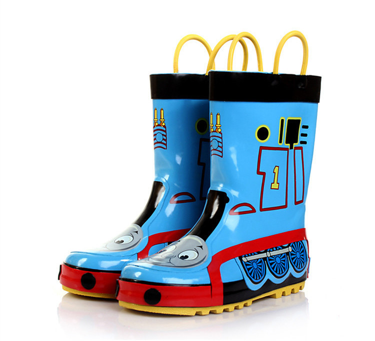 Thomas And Friends Cartoon Tank pattern Children Rain Boots For Boys Rubber Shoes Portable Kids Waterproof Rainboots