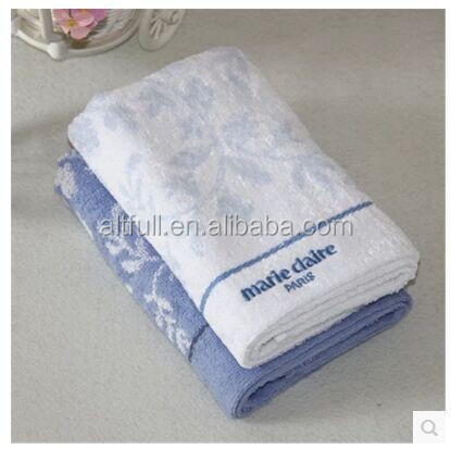 China Supplier New Arrival High Quality 100% Cotton Solid Jacquard Embrodiery Hand Towel, Face Towel, Bath Towel