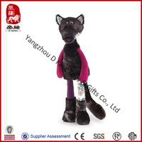 plush grey wolf toy supplier manufacture