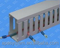 Low Smoke Slotted/Solid PVC Cable/Wiring Duct/Cable Trunking
