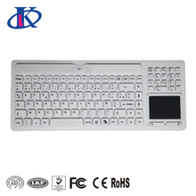 Wireless Waterproof Keyboard with Touchpad and Numeric Pad