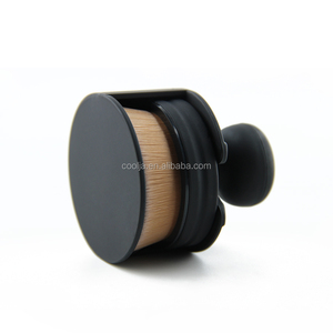 Circle Makeup Brushes 35 Angle Foundation Cream Powder Micro Fine Beauty Oval Make Up Brushes With Holder