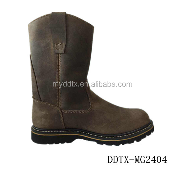 High cut steel toe industrial mining safety boots