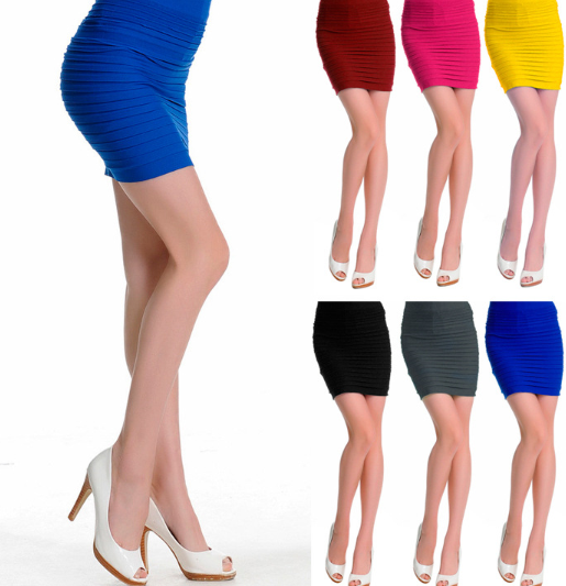 China ladies sexy dress summer short candy color fitness woman skirt
